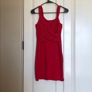 Bodycon mini wrap dress